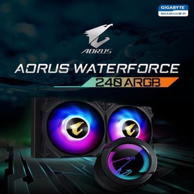 제이씨현시스템㈜, 기가바이트 CPU 수냉쿨러  AORUS 워터포스 ARGB 시리즈 출시!